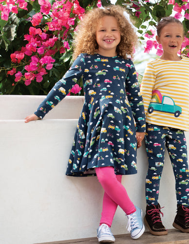Frugi Libby Legging Flamingo made in organic cotton.