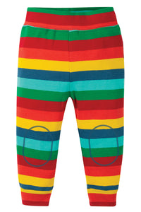 Frugi rainbow striped leggings in 100% organic cotton