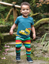 Load image into Gallery viewer, Frugi rainbow striped leggings in 100% organic cotton