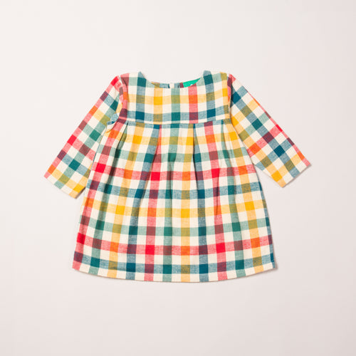 LGR autumn check smock dress