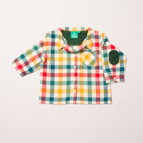 Little Green Radicals Autumn Checked Shirt
