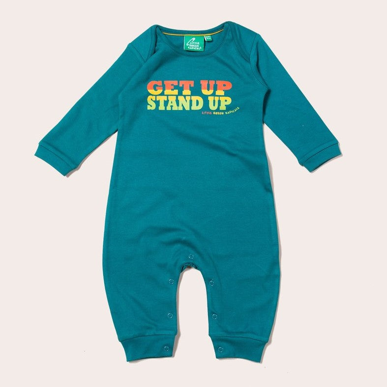 LITTLE GREEN RADICALS GET UP STAND UP BABYGROW