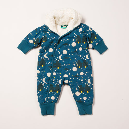 Little Green Radicals Moon & Stars Snowsuit