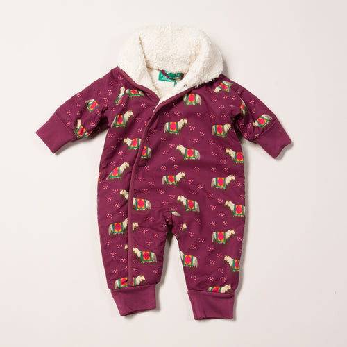 Little Green Radicals Nordic Horses Snowsuit
