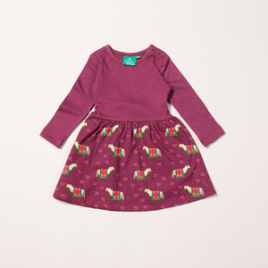 LGR Nordic Horses Little Twirler Dress