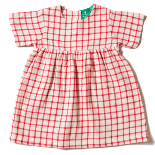 lgr red checked summer dress