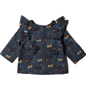 Little Green Radicals Falling Water Stargazer Print Top