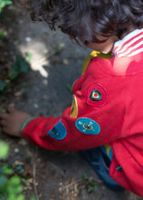 Load image into Gallery viewer, Little Green Radicals Red Reversible Explorer Jacket with Badges on Arms