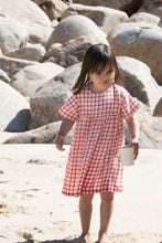 Load image into Gallery viewer, Little Green Radicals Red Checked Summer Dress