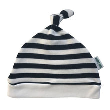 Load image into Gallery viewer, Lazy Baby black & white striped hat