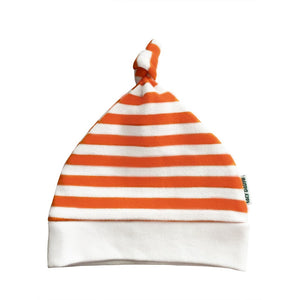 Lazy Baby Orange & White Striped Hat