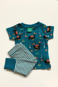 Little Green Radicals Sealife PLayset with Whale Print T Shirt and Blue and White Striped Leggings