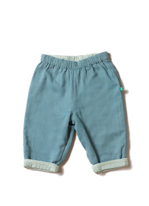LGR Reversible Trousers in Pale Blue and Mint Green