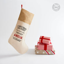Load image into Gallery viewer, Harrow & Green Personalised Christmas Stocking