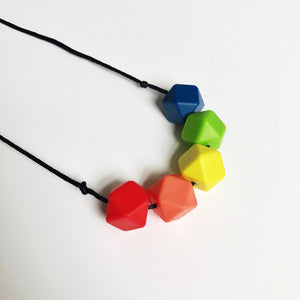 Mama Knows Rainbow Teething & Breastfeeding Necklace