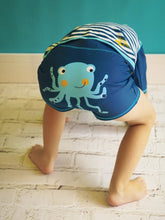 Load image into Gallery viewer, Blade & Rose blue octopus swim shorts