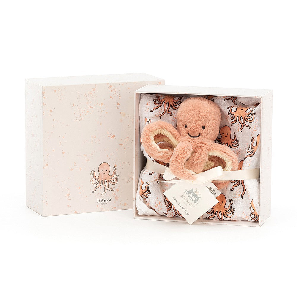 Jellycat Odell Baby Octopus Gift Set
