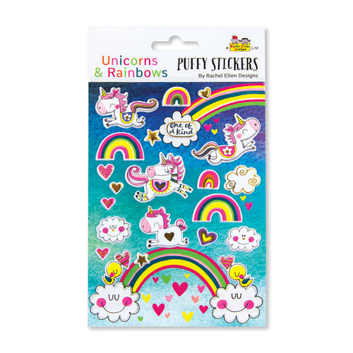 Rachel Ellen unicorn puffy stickers