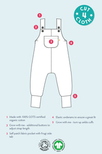 Frugi Parsnip Dungarees Infographic