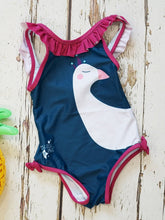 Load image into Gallery viewer, Blade & Rose blue & magenta peacock swimsuit