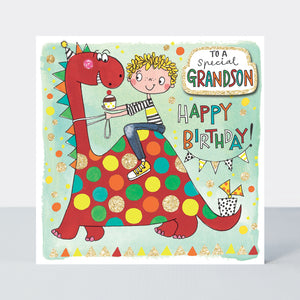 Rachel Ellen Grandson Birthday Card