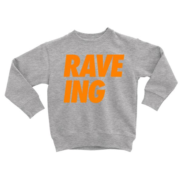 Lella Kids Rave-Ing Sweat Grey / Neon Orange