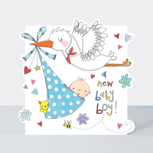 Rachel Ellen A New Baby Boy Stork Card