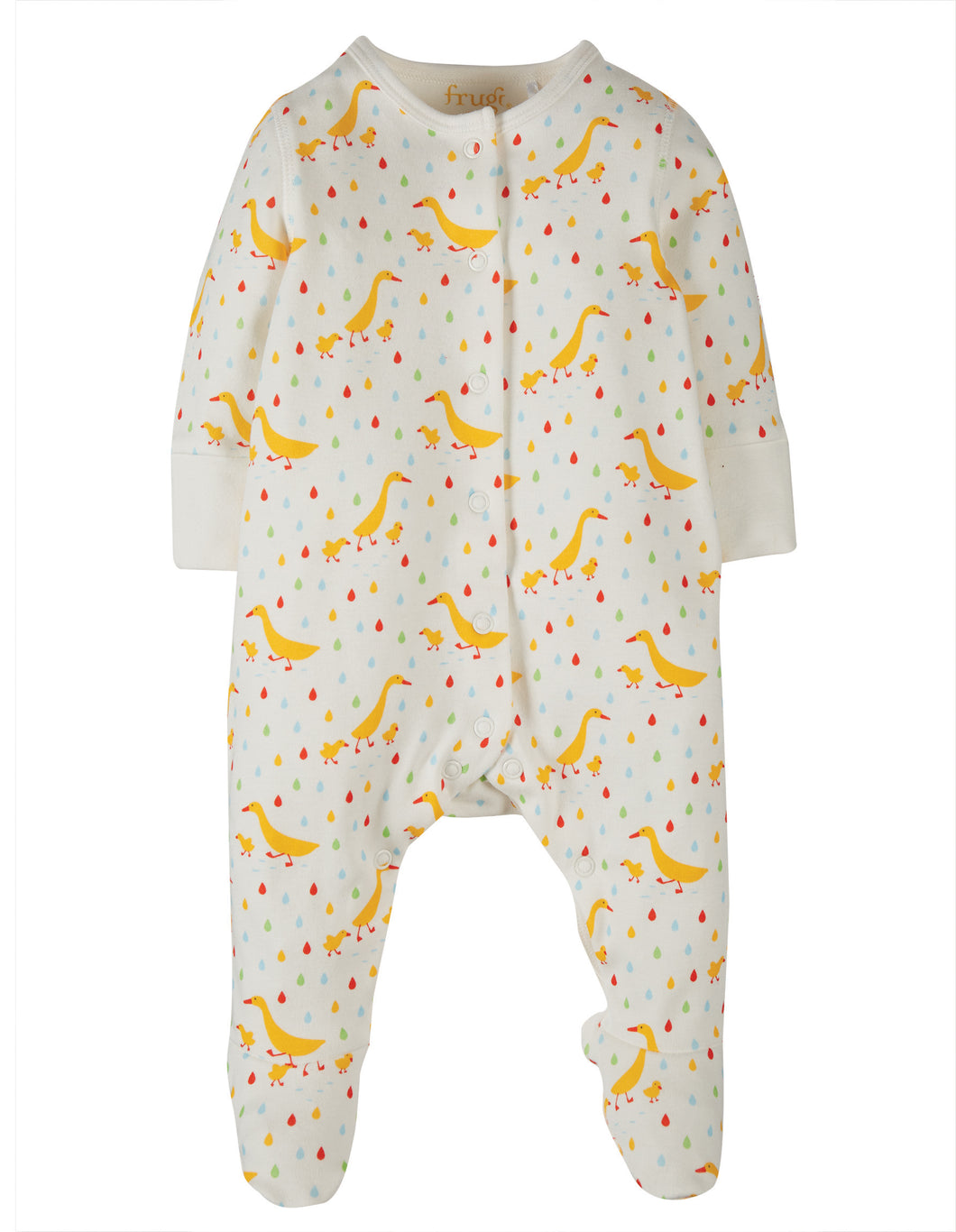 frugi lovely runner ducks babygrow