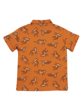 Load image into Gallery viewer, frugi rupert marigold tiger jersey shirt