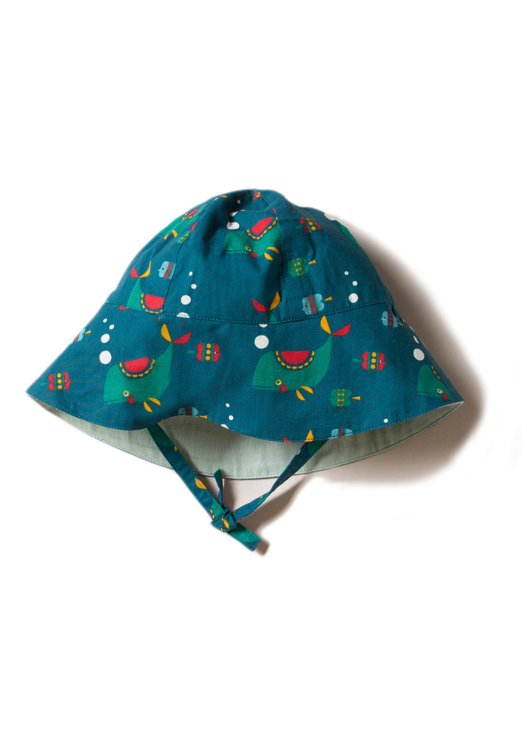Little Green Radicals Reversible Sunhat in Whale of a Time print