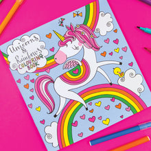 Load image into Gallery viewer, Rachel Ellen unicorns and rainbows colouring book