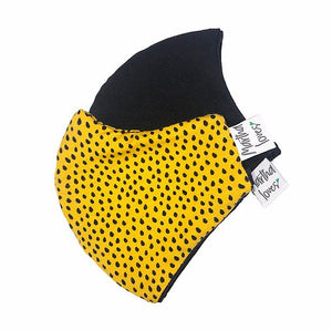 Yellow & Black Spot Face Mask