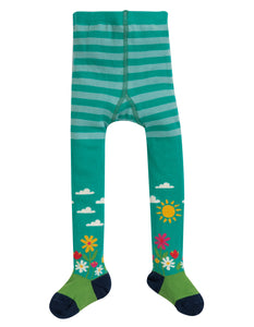 Frugi Little Norah Tights Aqua