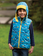 Load image into Gallery viewer, Frugi Rainbow Whales Explorer Gilet