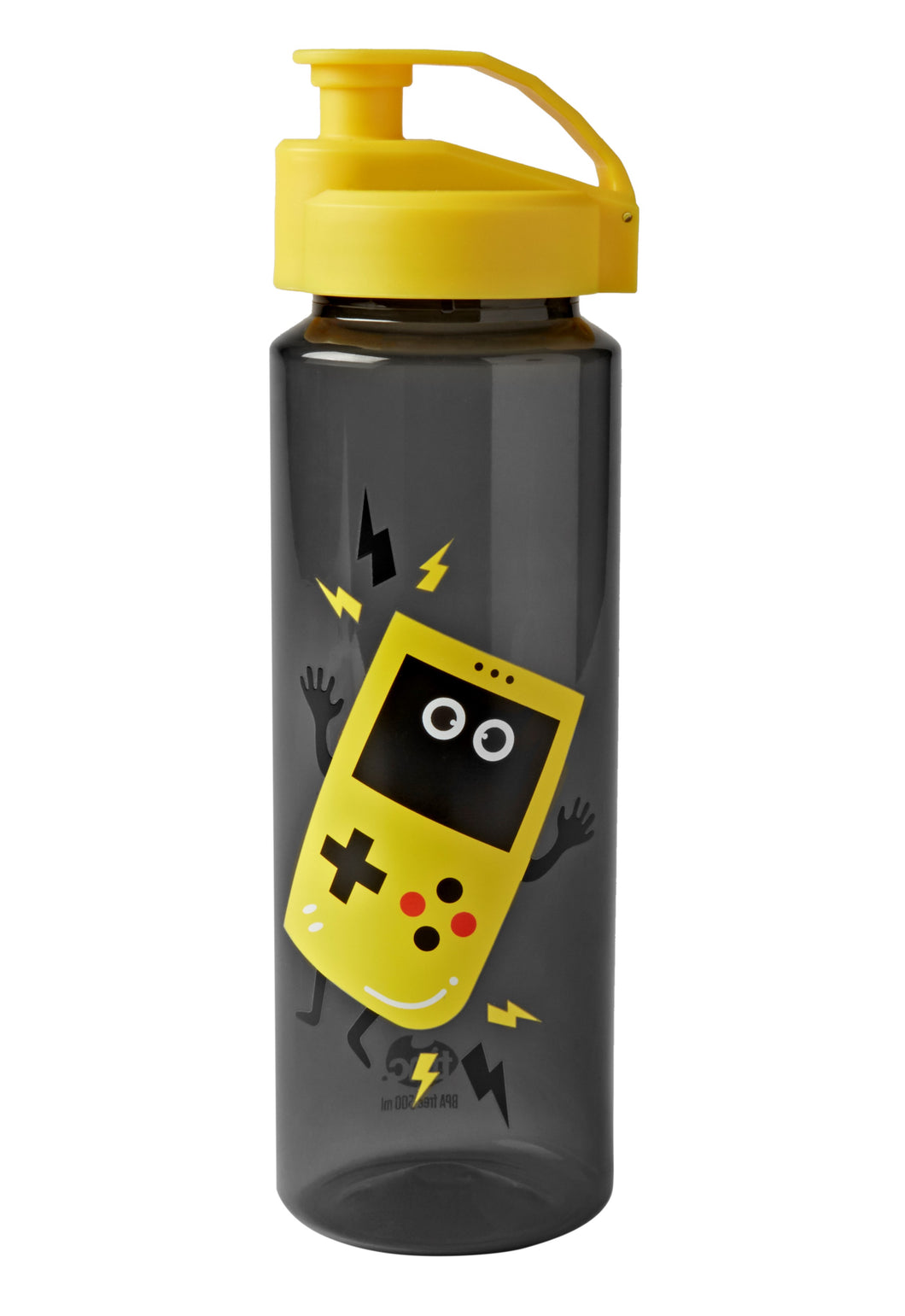 Tinc gaming design water bottle in yellow and black