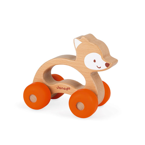 Janod wooden push along fox toy