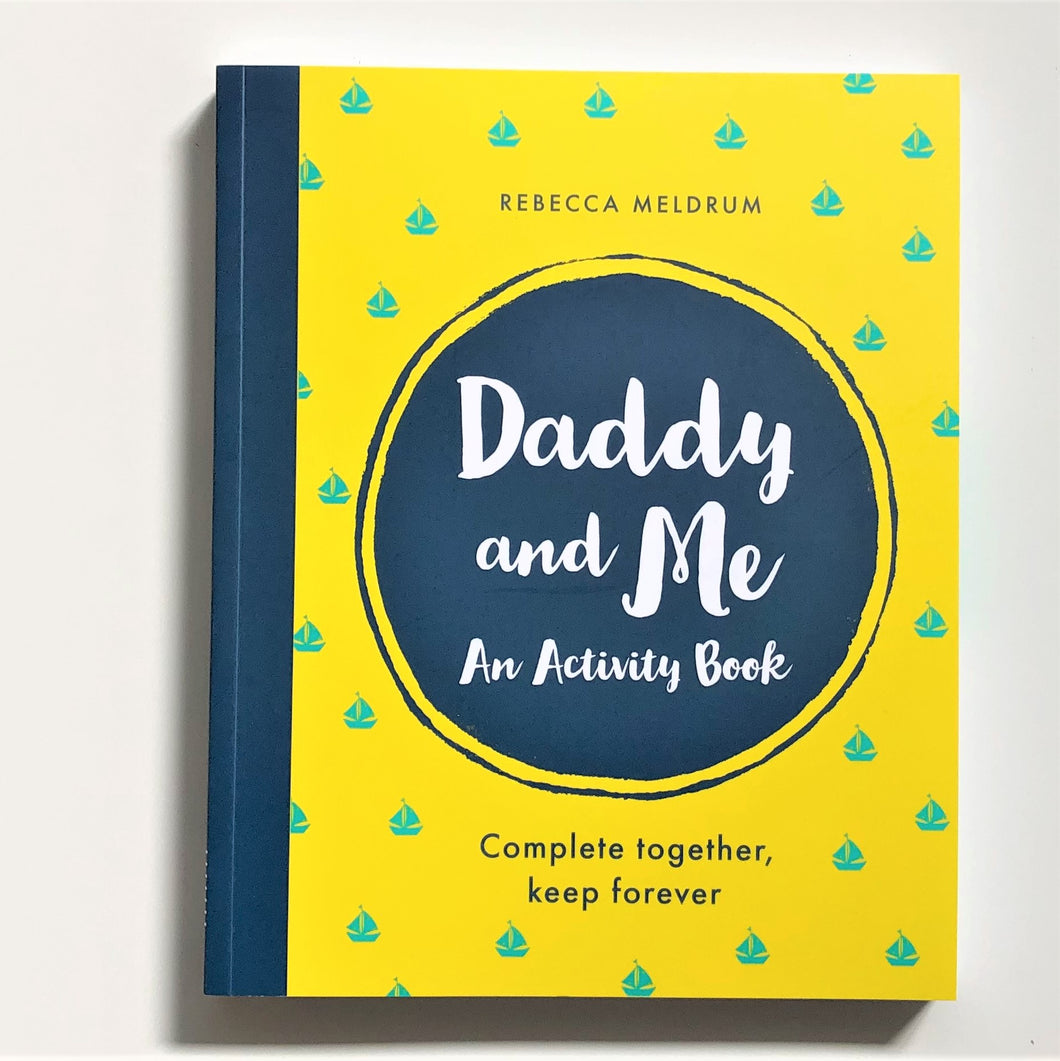 daddy and me activity book by rebecca meldrum