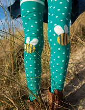 Load image into Gallery viewer, frugi fun bumble bee tights