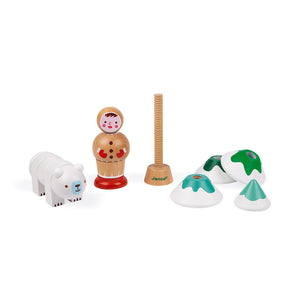 Janod Arctic themed I am learning to use a screw wooden toy