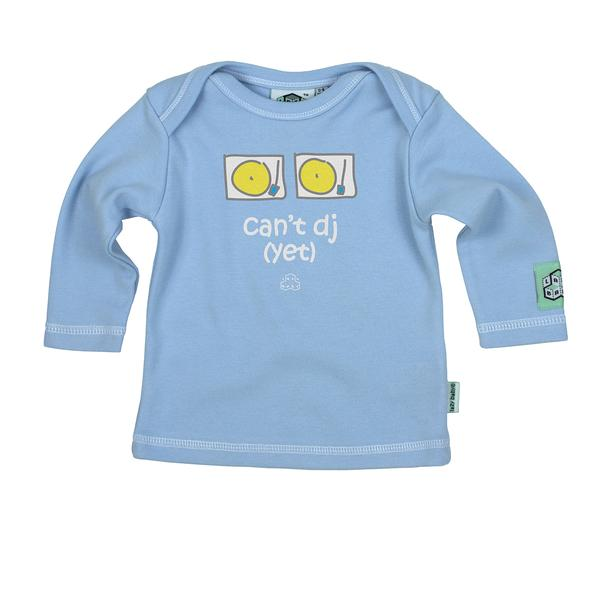 Lazy Baby can't DJ yet t shirt in baby blue