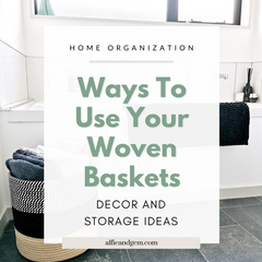 10 Ways To Show Off Your Woven And Wicker Basket Storage