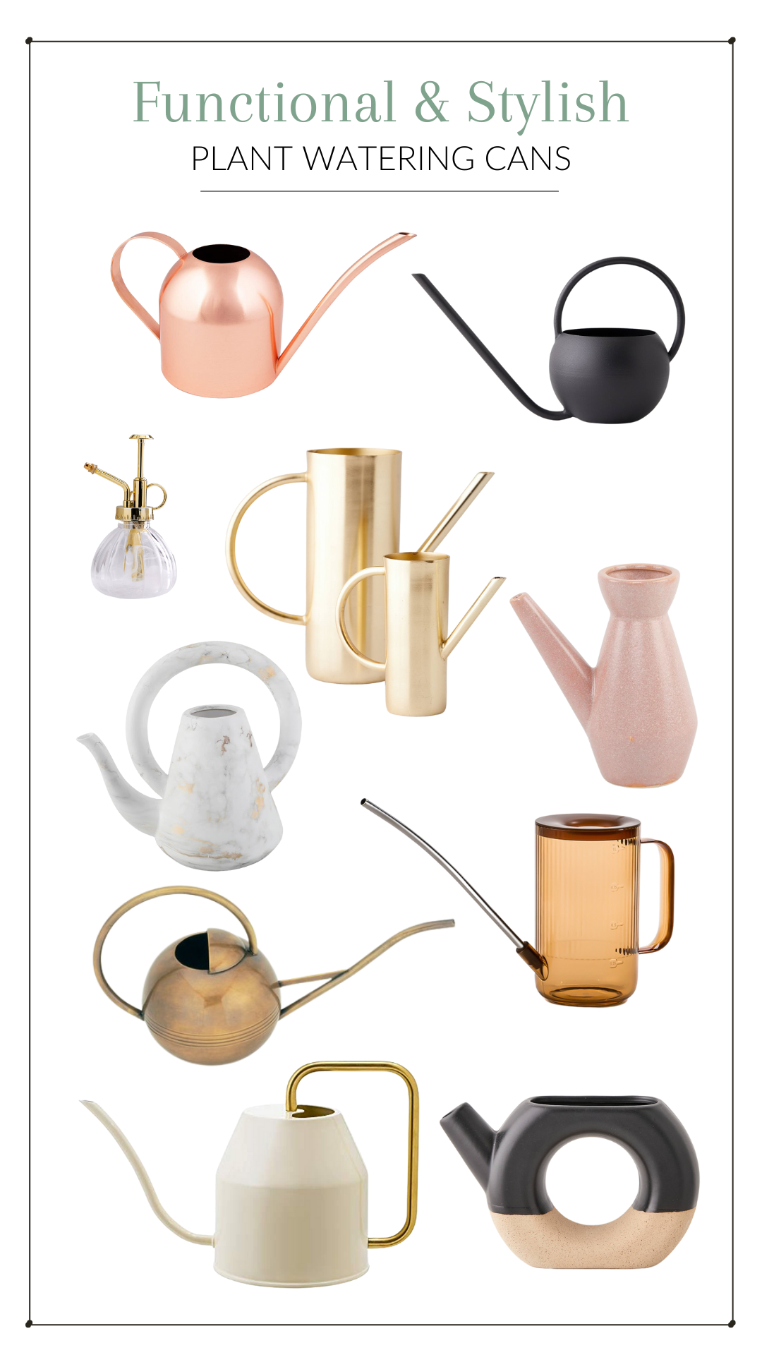 Stylish watering cans