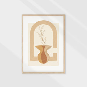 Earthy-toned floral wall art. Adds a minimalistic boho style to any space. Digital and printable wall art.