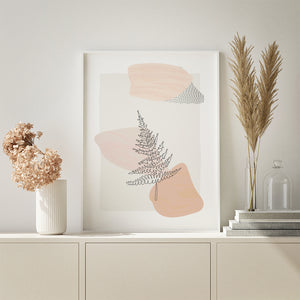 Printable Fern Art - Minimalistic Botanical Art
