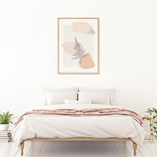 Load image into Gallery viewer, Frameable wall art with botanical fern art design. Perfect for adding minimalistic design to any bedroom. High quality digital file for instant printing.
