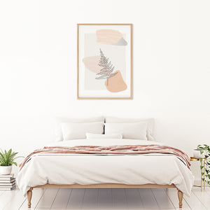 Frameable wall art with botanical fern art design. Perfect for adding minimalistic design to any bedroom. High quality digital file for instant printing.