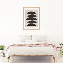 Load image into Gallery viewer, Geometric minimalistic wall art for modern contemporary bedrooms. Available in high quality digital format. Printable and frameable wall art.