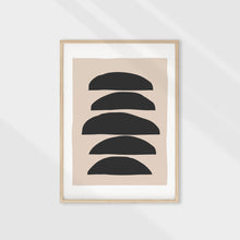 Load image into Gallery viewer, Simple wall art for decorating gallery walls. Geometric and modern design wall hang. Digital and printable art.