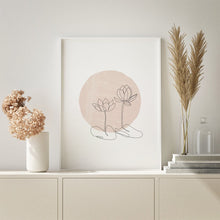 Load image into Gallery viewer, Minimalist rose wall art. Available in digital format for instant printing.