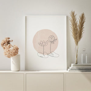 Minimalist rose wall art. Available in digital format for instant printing.